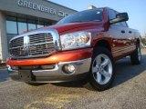 2008 Sunburst Orange Pearl Dodge Ram 1500 Lone Star Edition Quad Cab #38009684