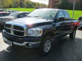2007 Patriot Blue Pearl Dodge Ram 1500 SLT Quad Cab 4x4 #38010579