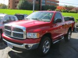 2005 Flame Red Dodge Ram 1500 Laramie Regular Cab 4x4 #38010580