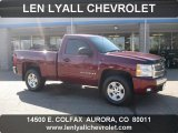 2008 Deep Ruby Metallic Chevrolet Silverado 1500 LT Regular Cab 4x4 #38009813