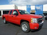2011 Victory Red Chevrolet Silverado 1500 LT Extended Cab 4x4 #38076386
