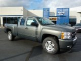 2011 Taupe Gray Metallic Chevrolet Silverado 1500 LT Extended Cab 4x4 #38076389