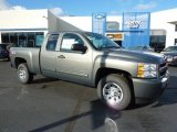 2011 Steel Green Metallic Chevrolet Silverado 1500 LS Extended Cab 4x4 #38076396