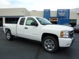 2011 Summit White Chevrolet Silverado 1500 LT Extended Cab 4x4 #38076402