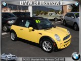 2005 Liquid Yellow Mini Cooper Convertible #38076499