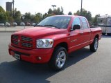 2007 Flame Red Dodge Ram 1500 SLT Quad Cab 4x4 #38076986