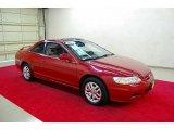 2002 San Marino Red Honda Accord EX V6 Coupe #38169644