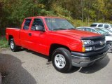 2004 Sport Red Metallic Chevrolet Silverado 1500 LS Extended Cab 4x4 #38169696