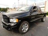 2005 Black Dodge Ram 1500 SLT Quad Cab 4x4 #38169971