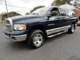 2002 Patriot Blue Pearlcoat Dodge Ram 1500 SLT Quad Cab 4x4 #38169974