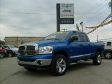 2008 Electric Blue Pearl Dodge Ram 1500 Big Horn Edition Quad Cab 4x4 #38169732