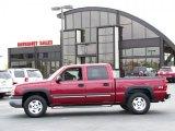 2005 Sport Red Metallic Chevrolet Silverado 1500 Z71 Crew Cab 4x4 #38170025