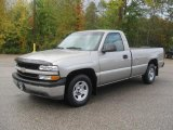 2002 Light Pewter Metallic Chevrolet Silverado 1500 Work Truck Regular Cab #38170070