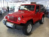2011 Flame Red Jeep Wrangler Sahara 4x4 #38170138