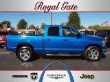 2007 Electric Blue Pearl Dodge Ram 1500 SLT Quad Cab 4x4 #38229718