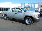 2011 Sheer Silver Metallic Chevrolet Silverado 1500 Extended Cab 4x4 #38229918