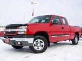 2003 Victory Red Chevrolet Silverado 1500 Z71 Extended Cab 4x4 #3808343