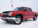 2005 Victory Red Chevrolet Silverado 1500 Z71 Crew Cab 4x4 #3808384