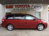 2011 Salsa Red Pearl Toyota Sienna LE #38229758
