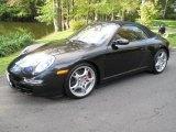 2007 Basalt Black Metallic Porsche 911 Carrera S Cabriolet #38229759