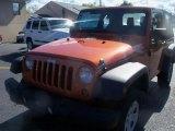 2011 Mango Tango Pearl Jeep Wrangler Sport 4x4 #38229767