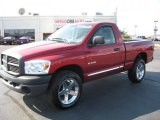 2008 Inferno Red Crystal Pearl Dodge Ram 1500 ST Regular Cab 4x4 #38276949