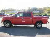 2010 Vermillion Red Ford F150 XLT SuperCrew 4x4 #38270436