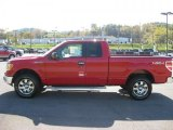 2010 Vermillion Red Ford F150 XLT SuperCab 4x4 #38270437