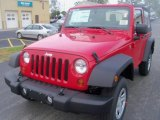 2011 Flame Red Jeep Wrangler Sport 4x4 #38276468