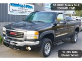 2003 Onyx Black GMC Sierra 2500HD SLE Regular Cab 4x4 #38276710
