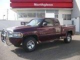 2001 Dark Garnet Red Pearl Dodge Ram 1500 SLT Club Cab 4x4 #3810689