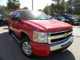 2009 Victory Red Chevrolet Silverado 1500 LT Extended Cab 4x4 #38276775