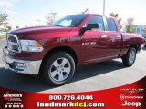 2011 Deep Cherry Red Crystal Pearl Dodge Ram 1500 Big Horn Quad Cab #38276609