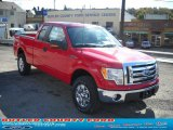 2010 Vermillion Red Ford F150 XLT SuperCab 4x4 #38276628