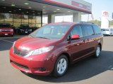 2011 Salsa Red Pearl Toyota Sienna LE #38276873