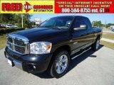 2008 Brilliant Black Crystal Pearl Dodge Ram 1500 Laramie Quad Cab 4x4 #38277148