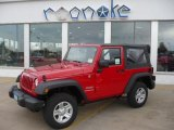 2011 Flame Red Jeep Wrangler Sport 4x4 #38276643