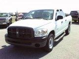 2008 Bright White Dodge Ram 1500 ST Quad Cab #38277178