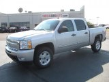 2011 Sheer Silver Metallic Chevrolet Silverado 1500 LT Crew Cab 4x4 #38276937