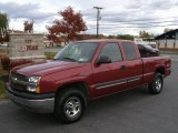 2004 Sport Red Metallic Chevrolet Silverado 1500 LS Extended Cab 4x4 #38342389