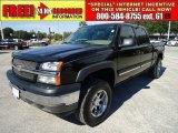 2005 Black Chevrolet Silverado 1500 LS Crew Cab 4x4 #38342706