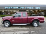2004 Dark Toreador Red Metallic Ford F250 Super Duty XLT SuperCab 4x4 #38342435