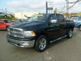 2009 Brilliant Black Crystal Pearl Dodge Ram 1500 Laramie Crew Cab 4x4 #38342237