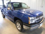 2004 Arrival Blue Metallic Chevrolet Silverado 1500 LS Regular Cab 4x4 #38342508