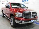 2007 Inferno Red Crystal Pearl Dodge Ram 1500 Big Horn Edition Quad Cab 4x4 #38342516