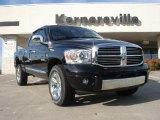 2008 Brilliant Black Crystal Pearl Dodge Ram 1500 Laramie Quad Cab 4x4 #38342527