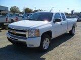2011 Summit White Chevrolet Silverado 1500 LT Extended Cab 4x4 #38413325