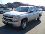 2011 Sheer Silver Metallic Chevrolet Silverado 1500 LS Crew Cab 4x4 #38413339