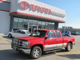 1999 Victory Red Chevrolet Silverado 1500 LS Extended Cab 4x4 #38412830