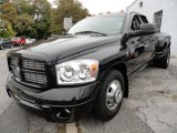 2007 Brilliant Black Crystal Pearl Dodge Ram 3500 Sport Quad Cab Dually #38413368
